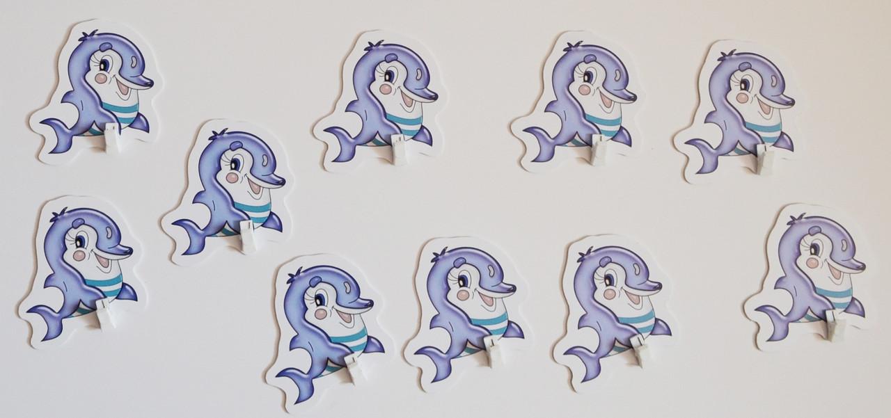 Стенд для рисунков с прищепкой Дельфинчик