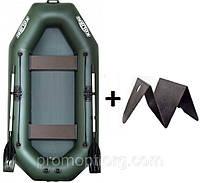 Лодка гребная надувная Kolibri (Колибри) Профи (с пайолом слань-книжка) KDB К-250Т /63-082