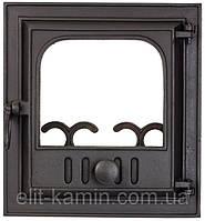 Печные дверцы со стеклом Delta Novella (360х390)