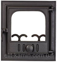 Печные дверцы со стеклом Delta Novella (360х390), фото 1