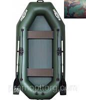 Лодка гребная надувная цвет камуфляж Колибри Профи (без пайола) KDB К-250Т /44-162
