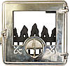 Печные дверцы Delta Opera (хром) (360х360)