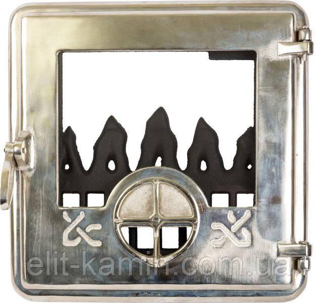 Печные дверцы Delta Opera (хром) (360х360), фото 1