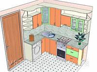 Изготовление кухни на заказ по индивидуальному размеру