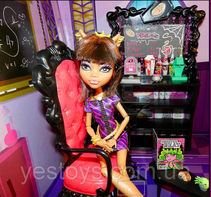 Monster High - Кав'ярня Clawdeen Wolf (Кофейный набор с Клодин Вульф , Coffin Bean Brand, Монстер Хай
