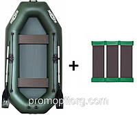Лодка гребная надувная Kolibri (Колибри) Профи (с пайолом слань-коврик) KDB К-290Т /23-862