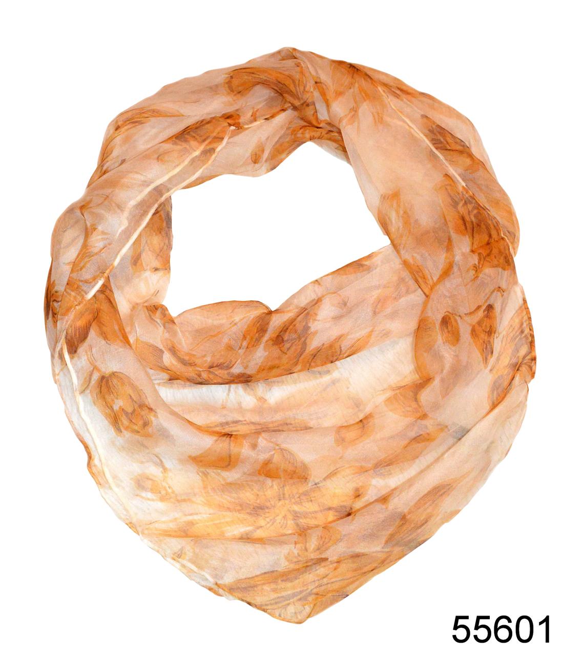 Платок женский из натурального шелка 100*100 (55601), фото 1