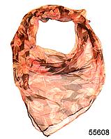 Платок женский из натурального шелка 100*100 (55608)