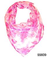 Купить платок женский из натурального шелка 100*100 (55609)