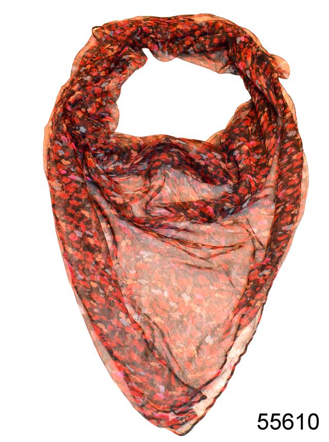 Платок женский из натурального шелка 100*100 (55610) 1