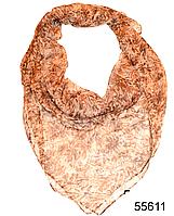 Платок женский из натурального шелка 100*100 (55611)