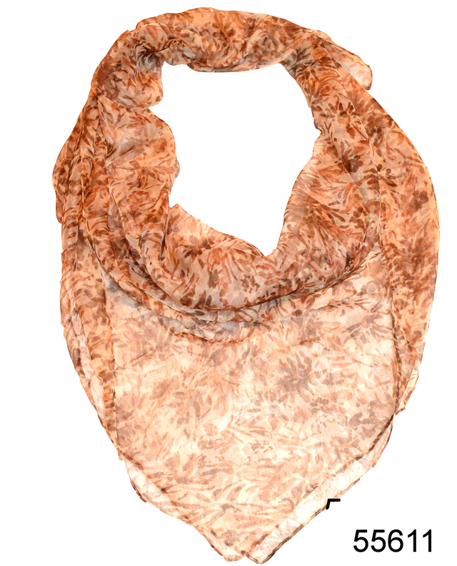 Платок женский из натурального шелка 100*100 (55611) 1
