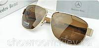 Солнцезащитные очки в стиле Mercedes (618) золотая оправа