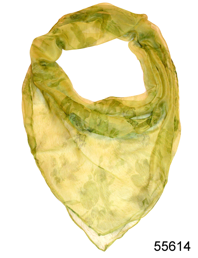 Платок женский из натурального шелка 100*100 (55614) 1