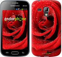 "Чехол на Samsung Galaxy Young S6310 / S6312 Красная роза ""529u-252"""
