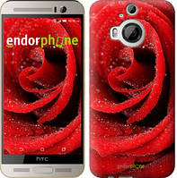 """Чехол на HTC One M9 Plus Красная роза """"529u-134"""""""