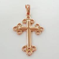 Кулон крестик розовая позолота 18К Xuping 333134