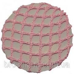 Плотная сеточка для пучка розовая