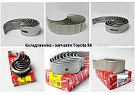 Коренные вкладыши для двигателей Toyota 5K (Тойота 5К)