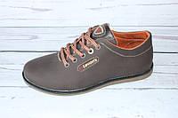 Кожаные подростковые туфли коричневого цвета Л91