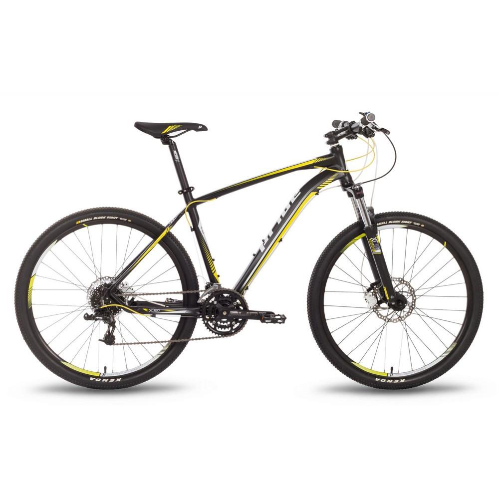 """Велосипед 27,5"""" Pride XC-650 RL рама - 17"""" черно-желтый матовый 2016"""