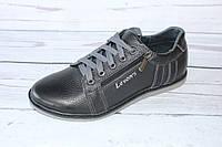 Туфли подростковые на змейке черного цвета Л92