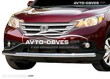 Кенгурятник прямой ус для Хонда ЦРВ 2013-2016 (п.к. V001)
