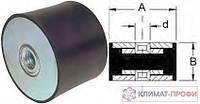 Резиновые виброопоры, тип ГГ  25х25  60sh  М 6 мм