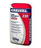 Клей по пенопласту универсальный армированный Kreisel 220 (25 кг)