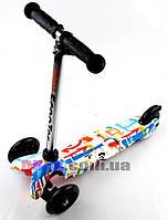 Самокат детский Scooter Mini Style Versi с рисунком светящиеся колеса OR