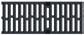 Решетка чугунная с прорезями, 0,5м. для каналов ACO V 150, Drainlock, D400-E600