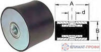Резиновые виброопоры, тип ГГ  50х45  60sh  М 10 мм