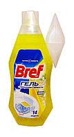 Освежитель для туалета Bref гель Дикий Лимон с гранулами свежести - 360 мл.