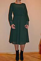 Платье женское бутылочного цвета