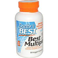 Doctor's Best, Оптимизированный комплекс мультивитаминов и минералов (Best Multiple), 90 растительных капсул
