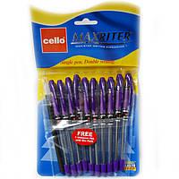 Ручка Maxriter оригинал масляная фиолетовая набор