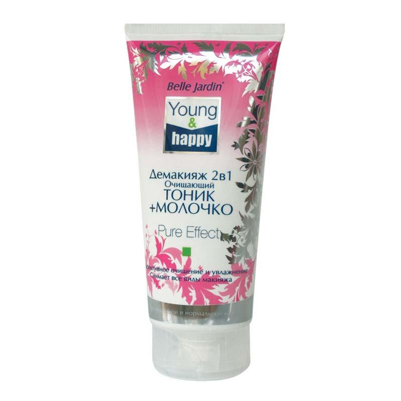 Демакияж 2 в 1 очищающий тоник и молочко (все виды макияжа ...