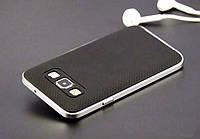 Силиконовый черный с белым комбинированный чехол с бампером для Samsung Galaxy A5