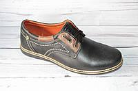 Мужские туфли в стиле комфорт, черно-коричневые