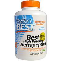 Doctor's Best, Лучшая высокоэффективная серрапептаза , 120,000 SPUs, 270 растительных капсул