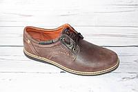 Мужские туфли в стиле комфорт, коричневые