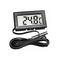 Электронный термометр с выносным датчиком WSD-10/WSD-11, измерение по Цельсию, шнур 1м, 47,8х28,5х14,3мм