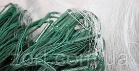 Рыболовная сеть, 1,8 м. высота, размер ячейки 20 мм., одностенка, груз в шнуре, белый цвет, длина 100 м.