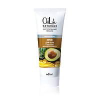 Крем для тела с маслами авокадо и кунжута Нежная кожа, 200 мл, Oil Naturals, Bielita