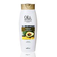 Шампунь с маслами авокадо и кунжута Объем и Сияние для всех типов волос, 430 мл, Oil Naturals, Bielita