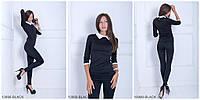 Женская кофта с воротником рубашкиBLACK