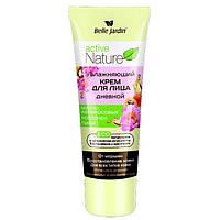Увлажняющий крем для лица дневной от морщин с маслом абрикосовых косточек и пионом, Active Nature Eco, Belle Jardin