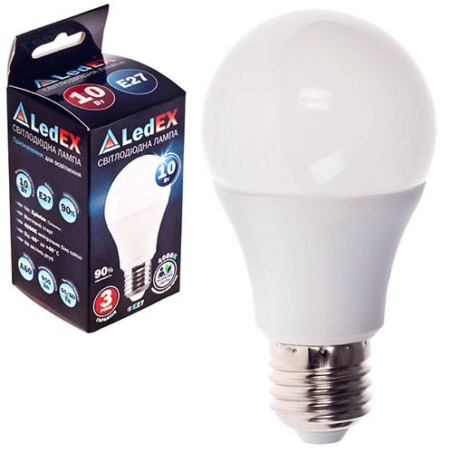 Лампа светодиодная 220V E27 10W 900Lm 4000K 270? LEDEX (чип Epistar) Т