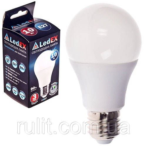 Лампа светодиодная 220V E27 10W 950Lm 3000K 270? LEDEX (чип Epistar) Т