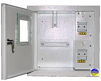 Щит ШМР-1ф-4А-В распределительный металлический для 1ф. индукционного счетчика и 4 авт. выключателей